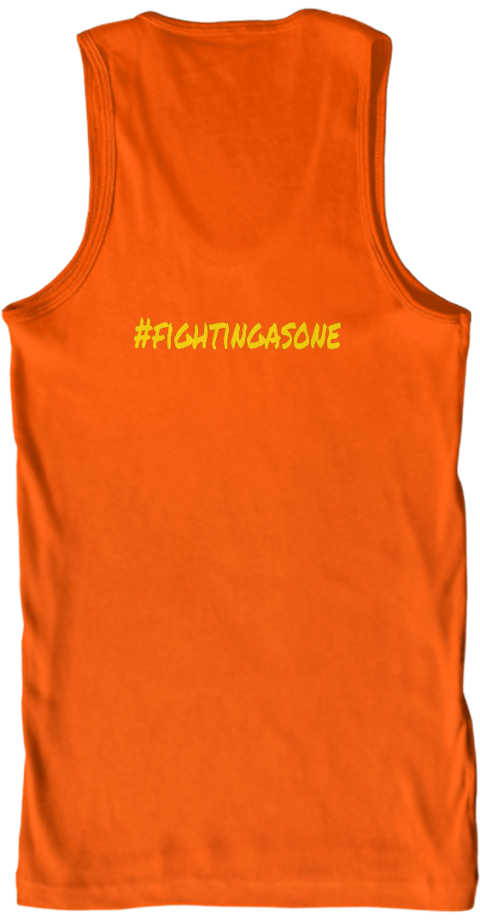 #Fightingasone Orange Tank Top Back
