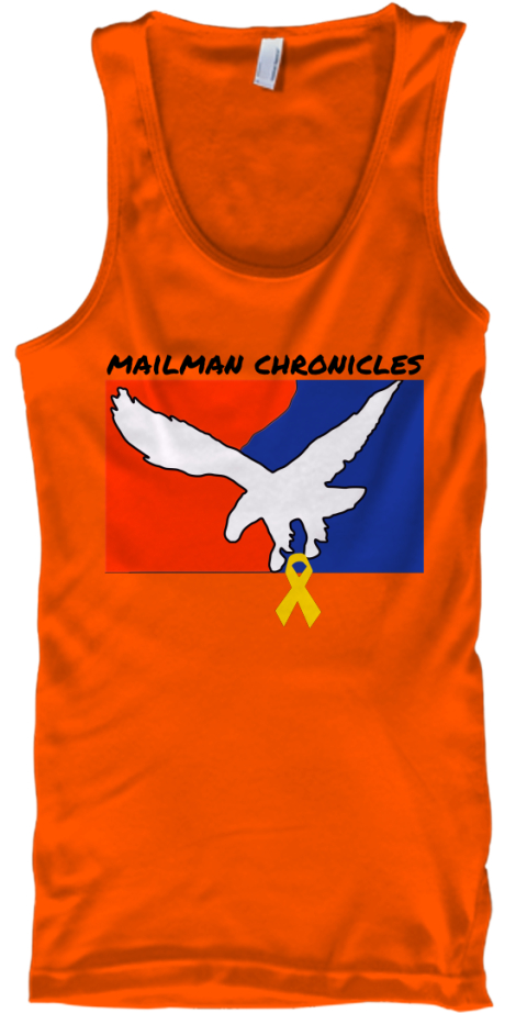 Mailman Chronicles Orange Tank Top Front