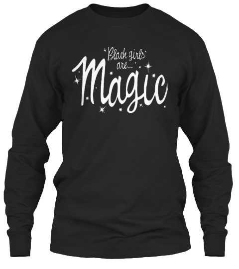 Blade Girls Are... Magic  Black Long Sleeve T-Shirt Front