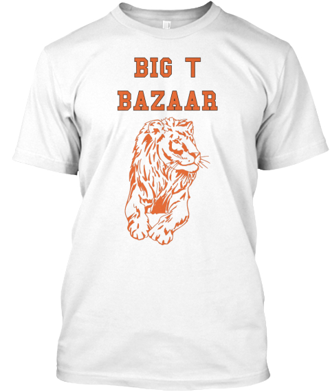 Big T Bazaar White T-Shirt Front