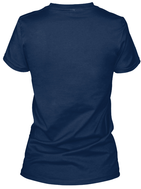 Vietnamese Woman Navy T-Shirt Back
