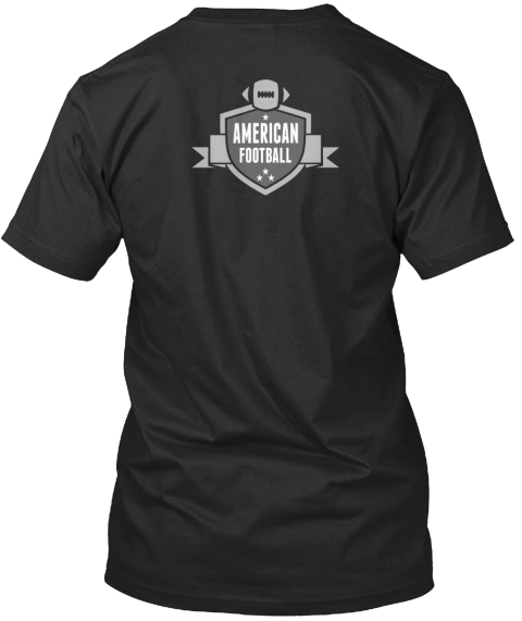 American Football Black T-Shirt Back