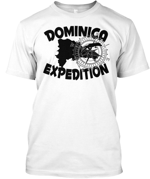 Dominica Expedition White T-Shirt Front