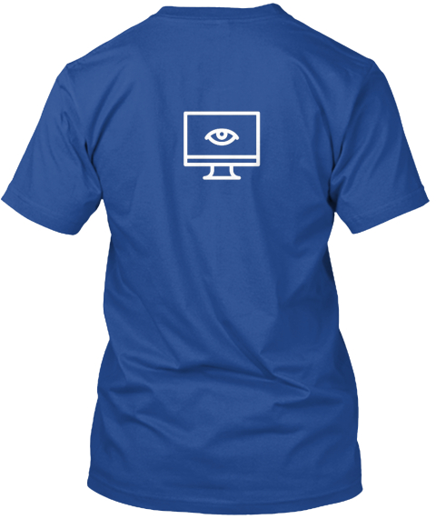Limited Edition Coder T Shirt! Deep Royal T-Shirt Back