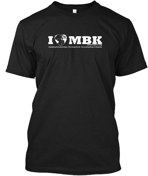 I Love Mbk Black T-Shirt Front