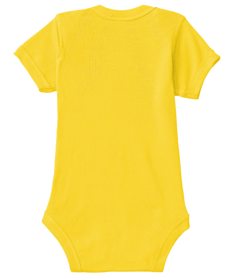 Funny Baby Onesie Yellow  T-Shirt Back
