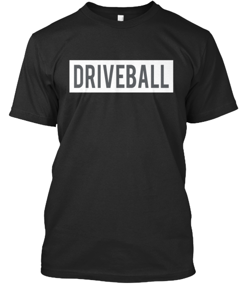 Driveball Black T-Shirt Front