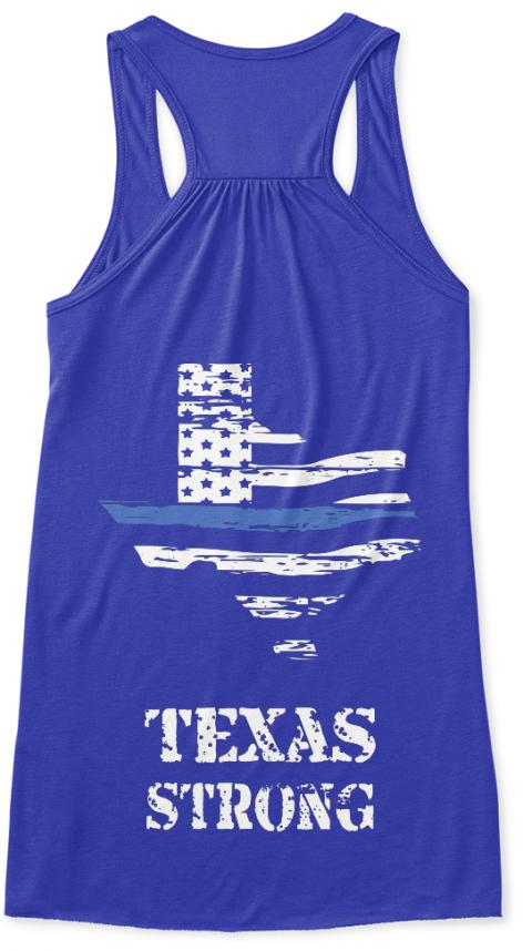 Texas strong thin blue line top texas strong women 39 s for Texas thin blue line shirt