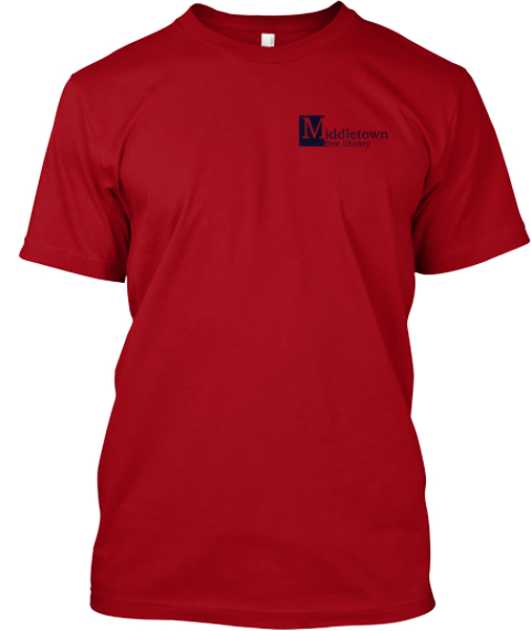 Middletown Free Library New Logo!   Deep Red T-Shirt Front