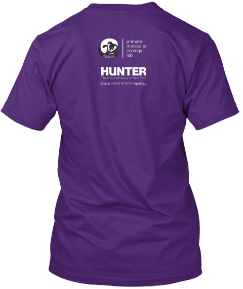 Primate Molecular Ecology Lab Hunter The City University Of New York Department Of Anthropology Purple T-Shirt Back