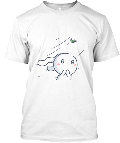 Cute Bunny White T-Shirt Front