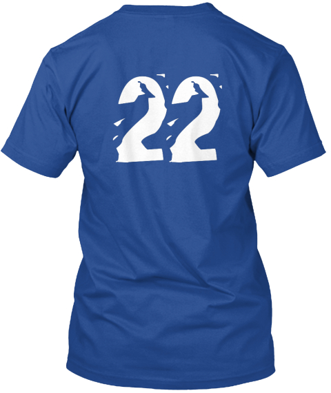 22 Deep Royal T-Shirt Back