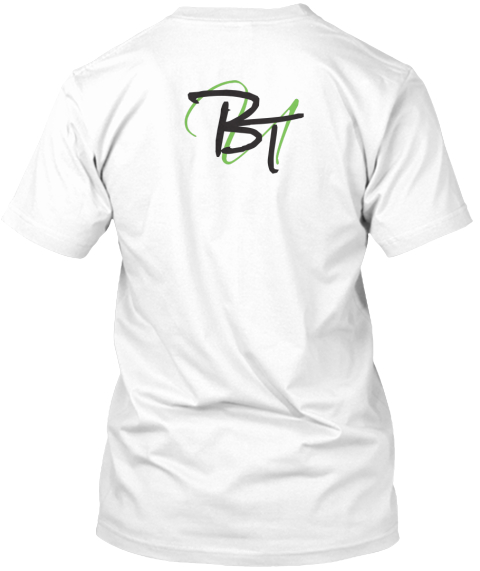Btu White T-Shirt Back