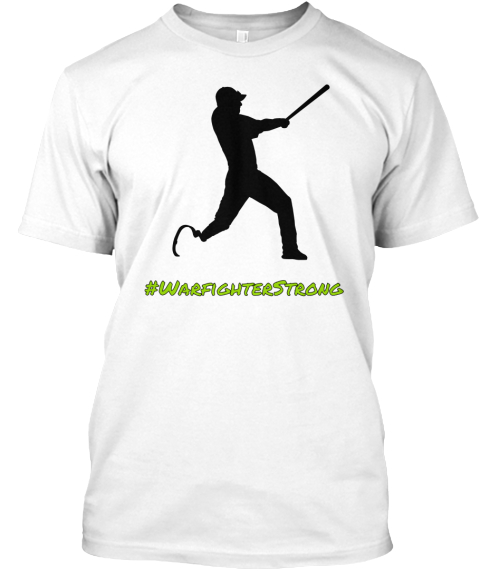 #Warfighterstrong White T-Shirt Front