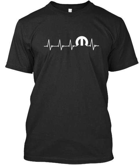 Heartbeat T Shirts And Hoodies! Black T-Shirt Front