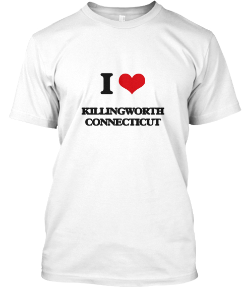 I Love Killingworth Connecticut White T-Shirt Front