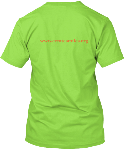 Www.Createsmile.Org Lime T-Shirt Back