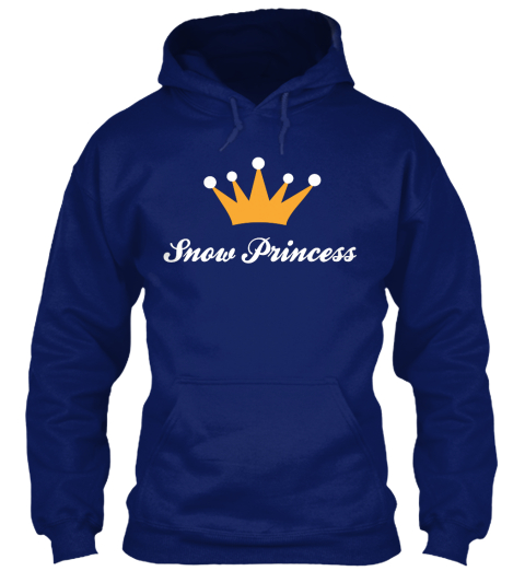 Snow Peincess Oxford Navy T-Shirt Front
