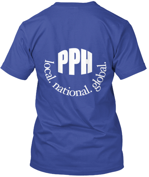 Pph Local National Global Deep Royal T-Shirt Back