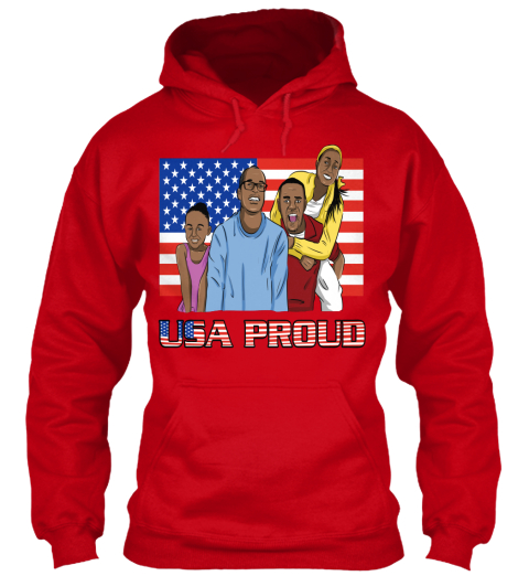 Usa Proud Red Sweatshirt Front