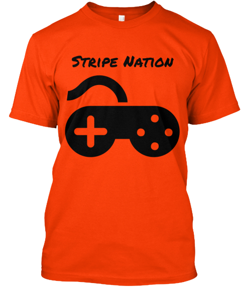 Stripe Nation Orange T-Shirt Front