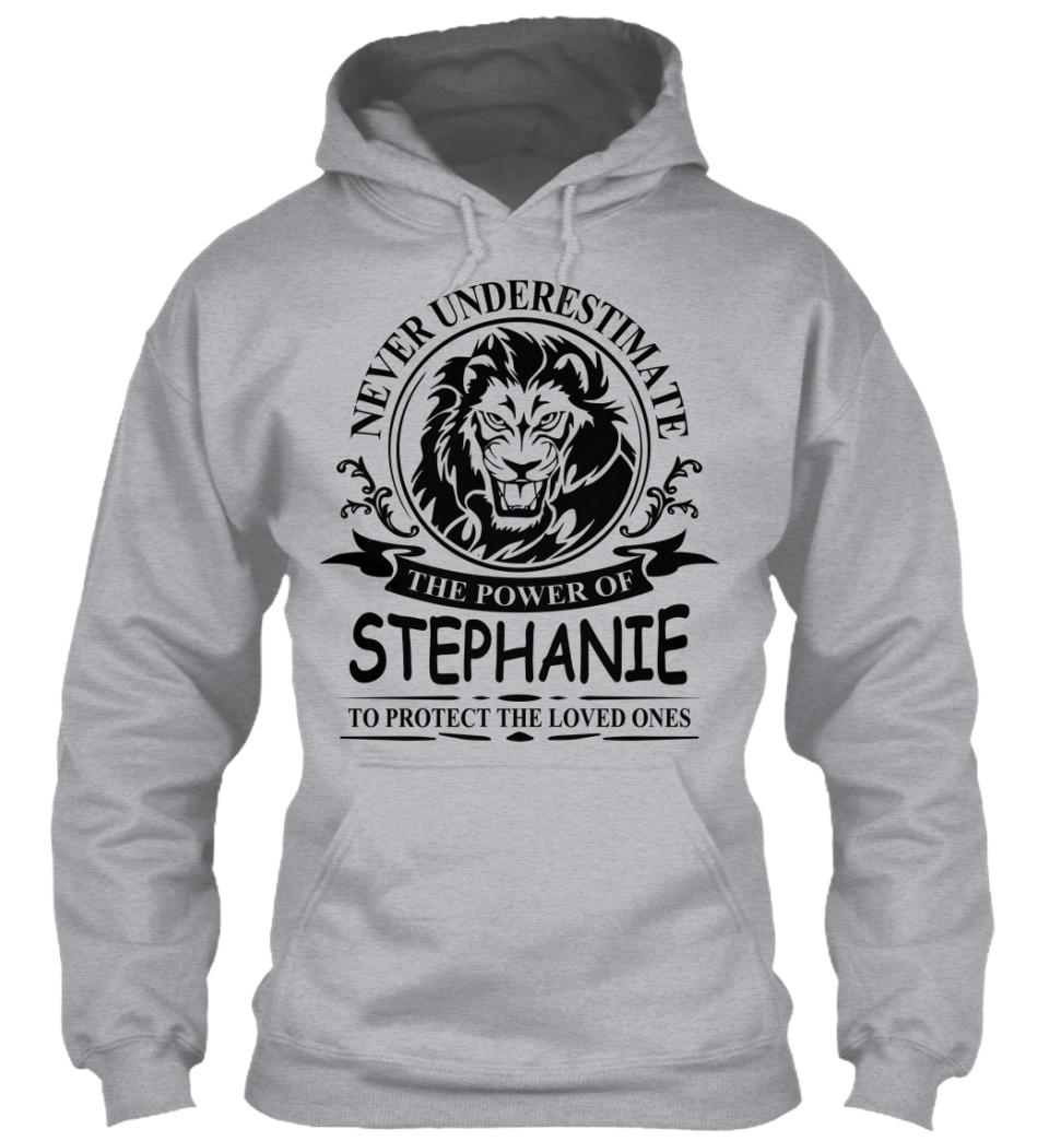Never Underestimate The Power of STEPHNIE Hoodie Black