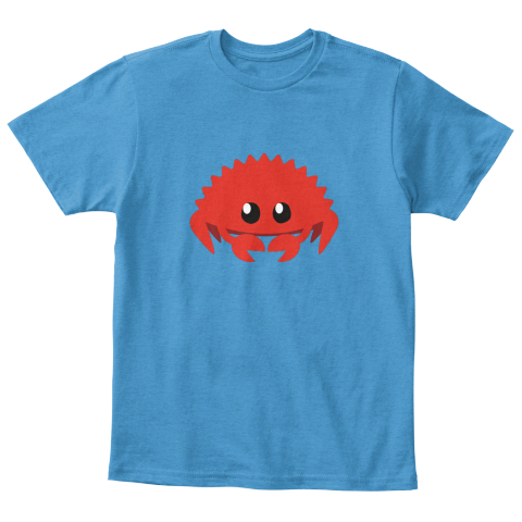 Kid Rustaceans! Heathered Bright Turquoise  T-Shirt Front