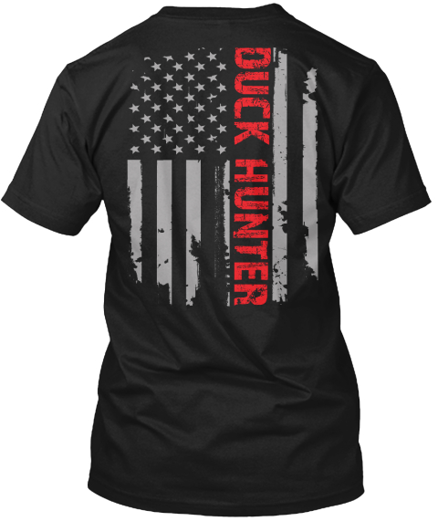 Duck Hunter Black T-Shirt Back