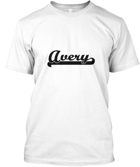 avery classic retro name design avery products teespring