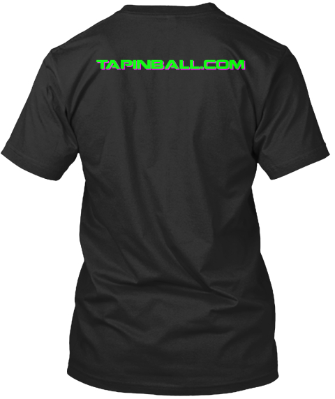 Tapinball.Com Black T-Shirt Back