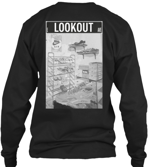Lookout Black Long Sleeve T-Shirt Back