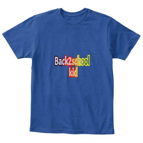 Back2school Kid Deep Royal  Camiseta Front