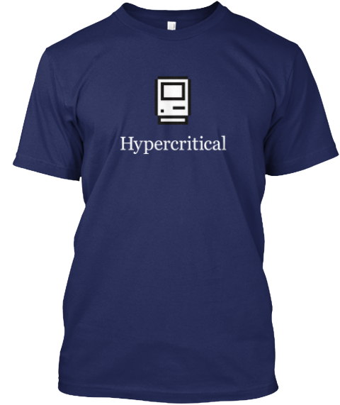 Hypercritical: The Shirt 2.0 (Dark) Navy T-Shirt Front