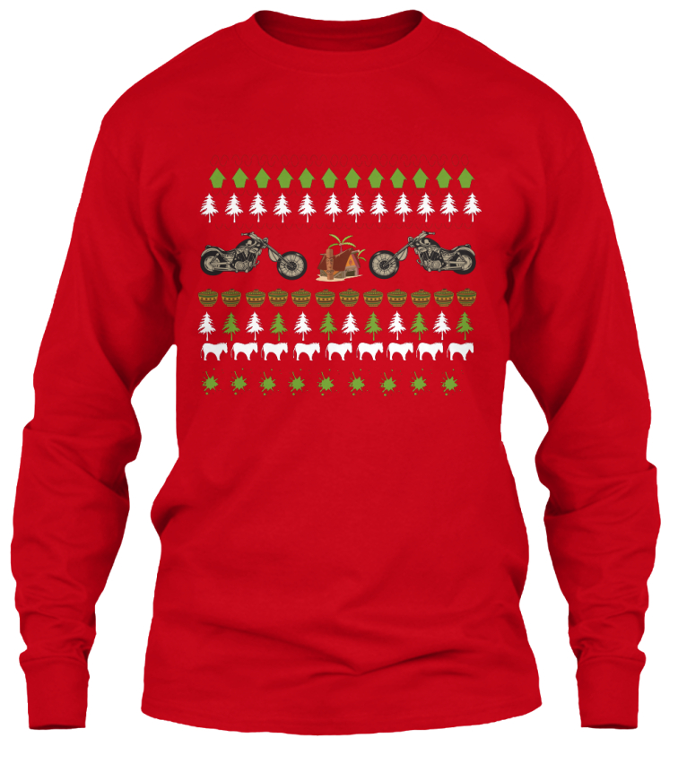 Christmas Moto Ugly Sweater Design: Teespring Campaign
