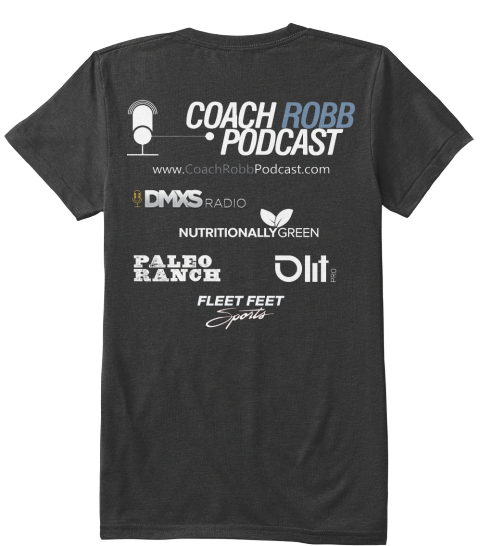 Coach Robb Podcast Vintage Black T-Shirt Back