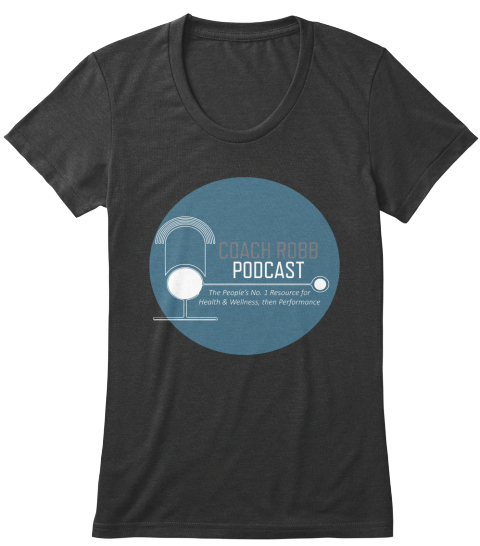 Coach Robb Podcast Vintage Black T-Shirt Front