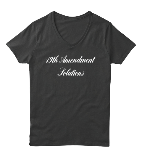 19th Amendment Solutions Black T-Shirt Front