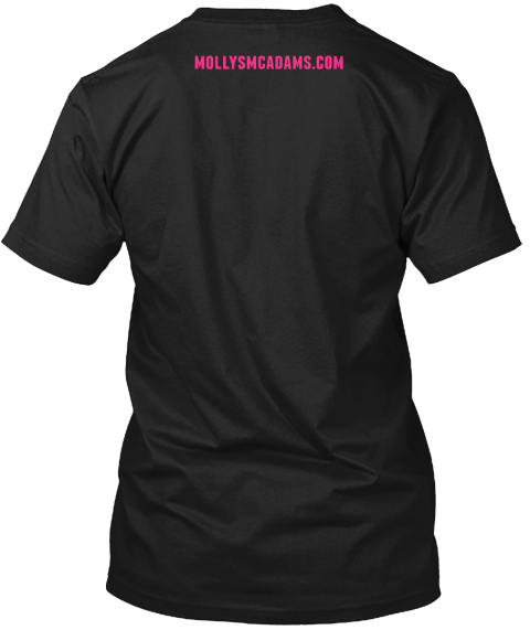 Mollysmcadams.Com Black T-Shirt Back