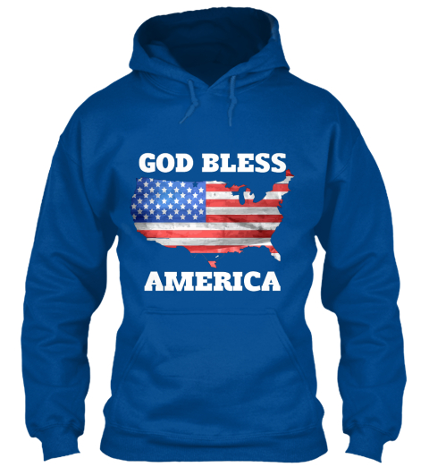 God Bless America Royal Sweatshirt Front