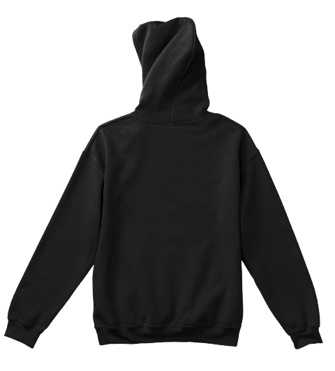 Kids Black Pullover Hoodie Black T-Shirt Back