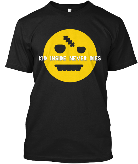 Kid Inside Never Dies Black T-Shirt Front