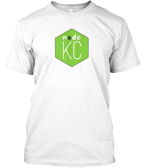 Node Kc American Apparel Tee White T-Shirt Front