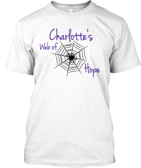 Charlotte's Web Of Hope White T-Shirt Front