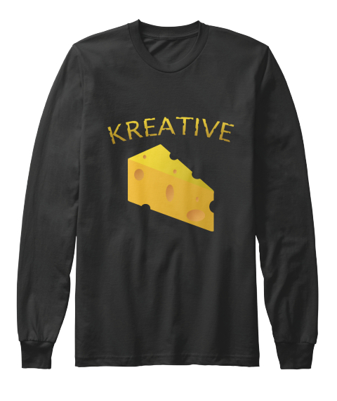 b360cb319216f Kreative Black Long Sleeve T-Shirt Front