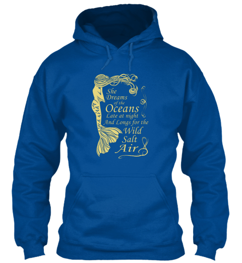 Mermaid maiden dreams of the ocean hoodie hooded sweatshirt