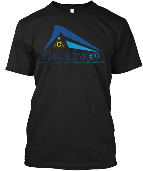 G Gibraltar #19 Free And Accepted Masons Prince Hall Affiliation T-Shirt Front