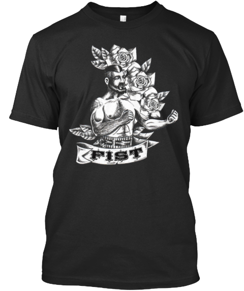 Fist Boxer T ! Black T-Shirt Front