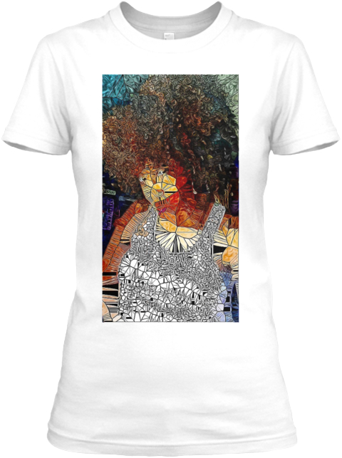 Natural Hair Art White Women's T-Shirt Front