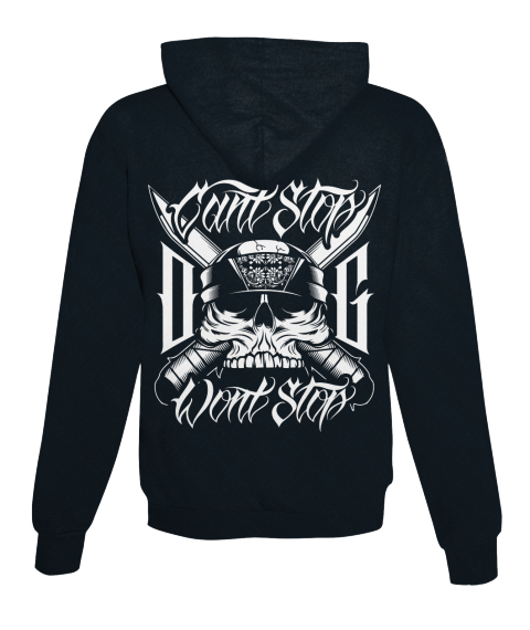 Can't Stop O G Won't Stop French Navy Sweatshirt Back