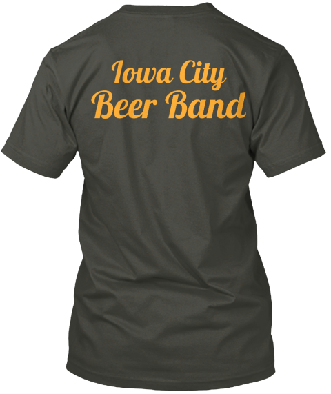 Iowa City Beer Band Smoke Gray T-Shirt Back